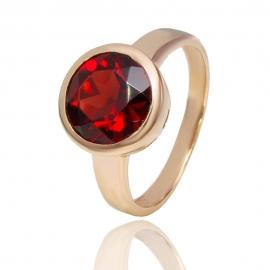 Золотое кольцо с гранатом (К1133)