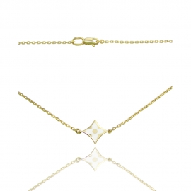Золотое колье с ювелирной эмалью (КЛ0213)