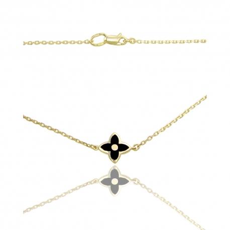 Золотое колье с ювелирной эмалью (КЛ0215)