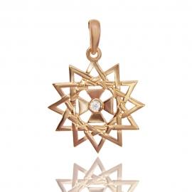Золотой кулон звезда эрцгаммы (П0275)