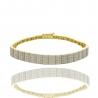 Золотой браслет с куб. цирконием (БТ0261)