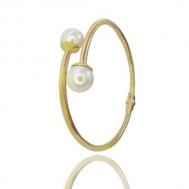 Золотой браслет с жемчугом (БТ0265)
