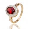 Золотое кольцо с гранатом (К0915)