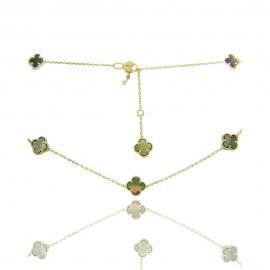 Золотое колье с перламутром (КЛ0202)