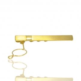 Золотий зажим для краватки (8561)