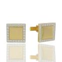 Золотые запонки (23812)
