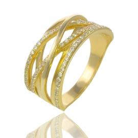 Золотое кольцо с куб. цирконием (54139)