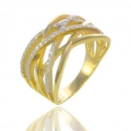 Золотое кольцо с куб. цирконием (К0807)