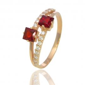 Золотое кольцо с гранатом (К0847)