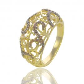 Золотое кольцо с куб. цирконием (К0860)