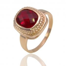 Золотое кольцо с гранатом (К1125)