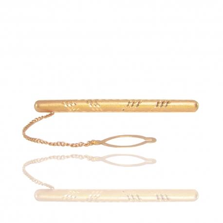 Золотой зажим для галстука (98003)