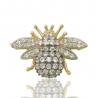 Золотая брошь с куб. цирконием (БШ0015)