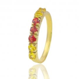 Золотое кольцо с сапфирами (6473)