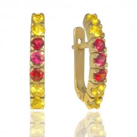 Золотые серьги с сапфирами (6505)