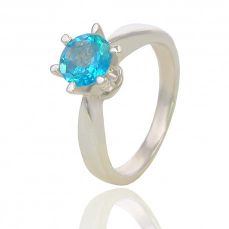 Золотое кольцо с топазом (К0187)