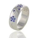 Золотое кольцо с сапфирами (К0349)