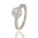 Золотое кольцо с куб. цирконием (К0497)