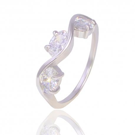 Золотое кольцо с Swarovski (К0727)