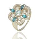 Золотое кольцо с топазом лондон (К0733)