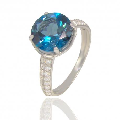 Золотое кольцо с топазом лондон (К1033)