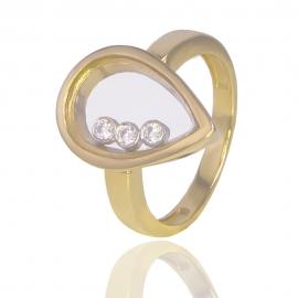 Золотое кольцо с куб. цирконием (К1351)
