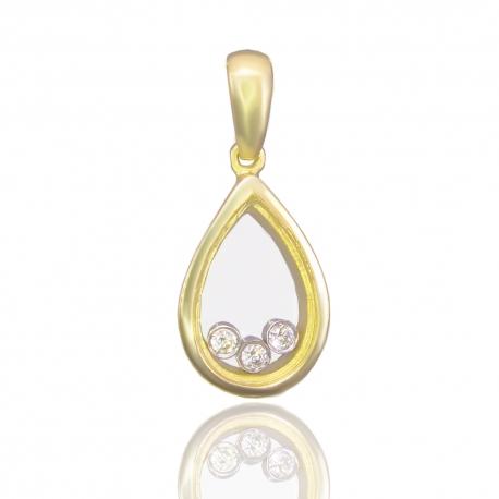 Золотой кулон с куб. цирконием (П0884)
