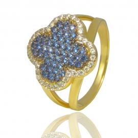 """Золотое кольцо """"Клевер"""" (К1356)"""