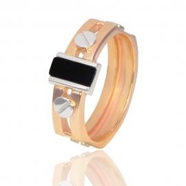 Золотой мужской перстень (К0302)