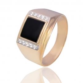 Золотой мужской перстень (К0437)