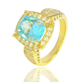 Золотое кольцо с куб. цирконием (12851)