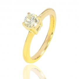 Золотое кольцо с бриллиантом (СК1010)