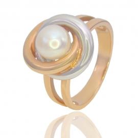Золотое кольцо с жемчугом (11057)