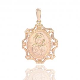 Золотая ладанка Божья Матерь (31382)