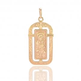 Золотая ладанка Божья Матерь (35525)