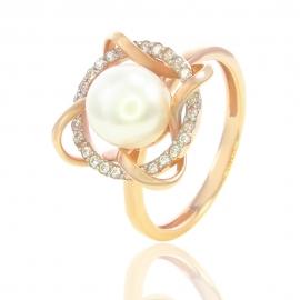 Золотое кольцо с жемчугом (К0557)