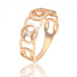 Золотое кольцо с куб. цирконием (К0695)