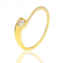 Золотое кольцо с куб. цирконием (К0702)
