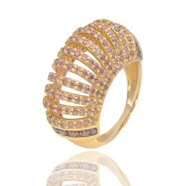Золотое кольцо с куб. цирконием (К0751)