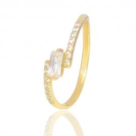 Золотое кольцо с куб. цирконием (К1002)