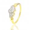 Золотое кольцо с куб. цирконием (К1060)