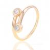 Золотое кольцо с куб. цирконием (К1126)