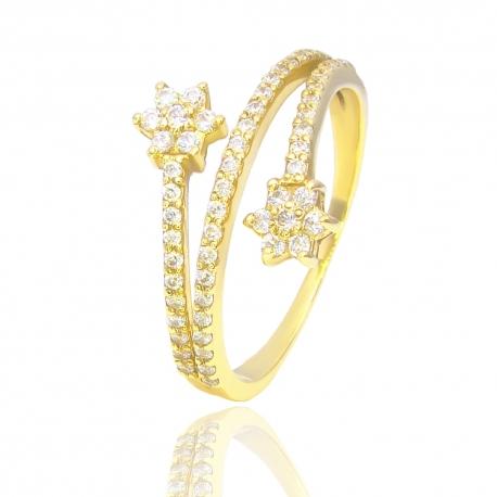 Золотое кольцо с куб. цирконием (К1082)
