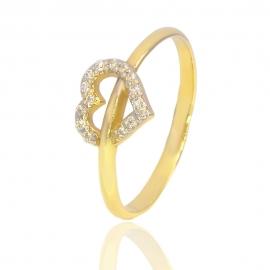 Золотое кольцо с куб. цирконием (К1098)