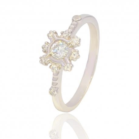 Золотое кольцо с куб. цирконием (К1158)