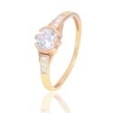 Золотое кольцо с куб. цирконием (К1232)