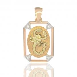 Золотой кулон скорпион (1091)