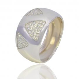 Золотое кольцо с куб. цирконием (1092)