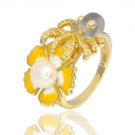 Золотое кольцо с жемчугом (1093)