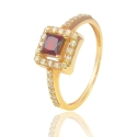 Золотое кольцо с гарнатом (К0825)